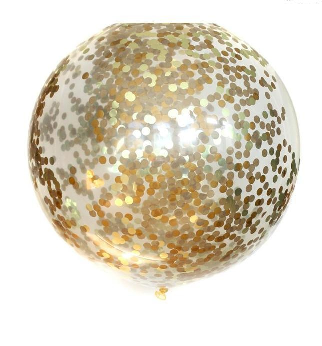Golden Confetti Balloon