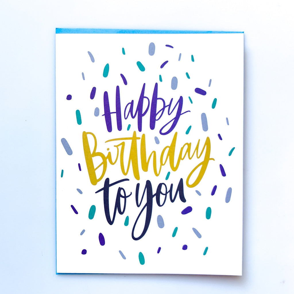 mary square birthday card