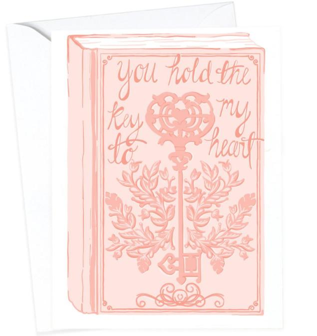 Pink Key to My Heart Card