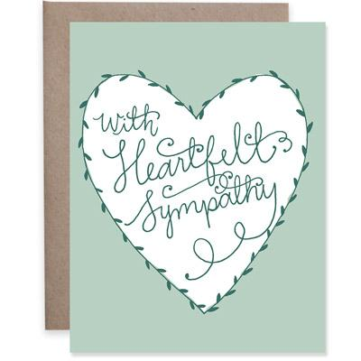 sympathy card 9th letterpress