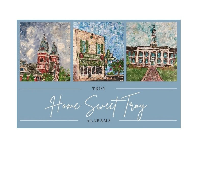 home sweet troy notecard