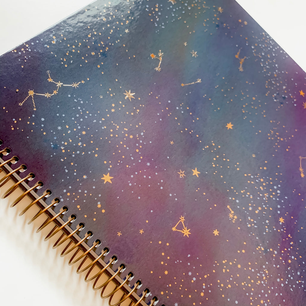 Celestial Navy Spiral Notebook