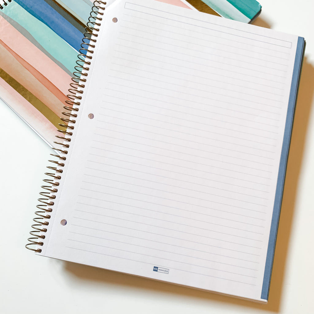 Watercolor Stripe Spiral Notebook