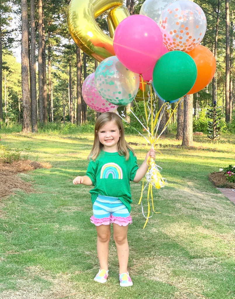 Rainbow Brights Confetti Balloon Bundle