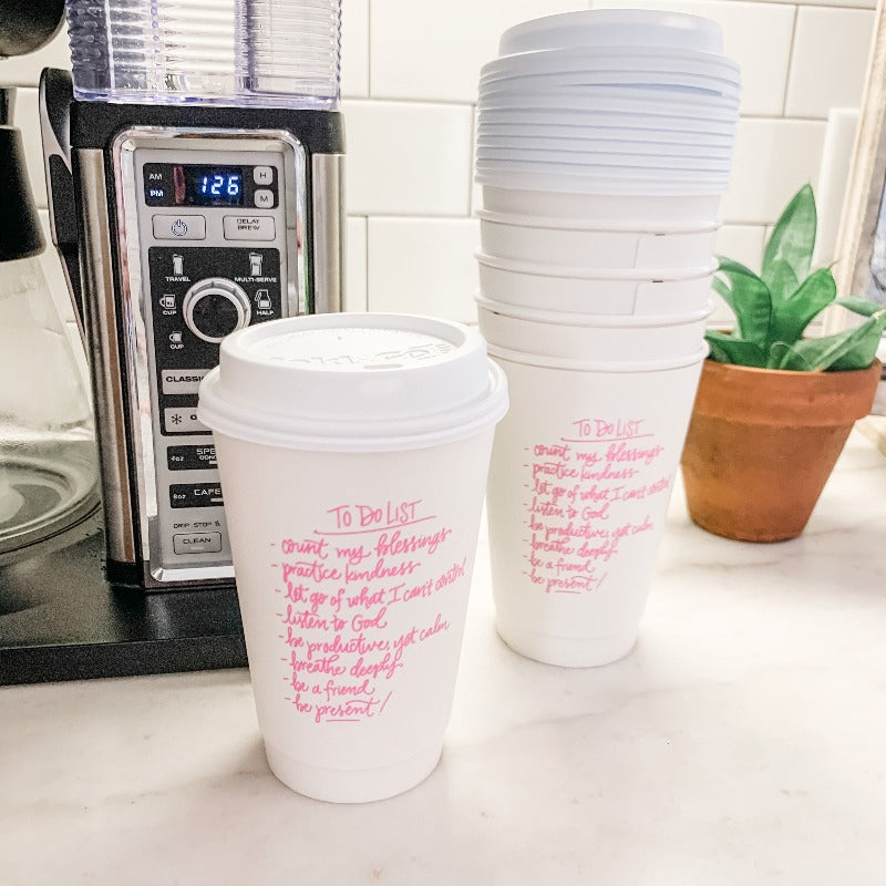 to do list coffee cup