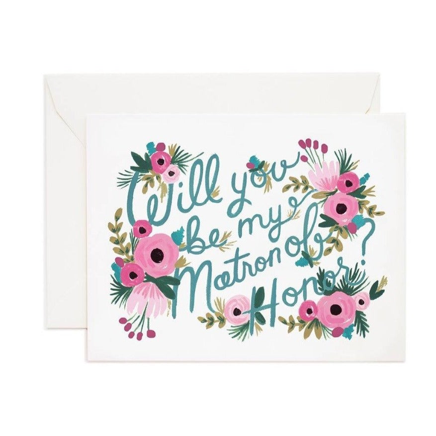 Matron of Honor Card - Print&Paper