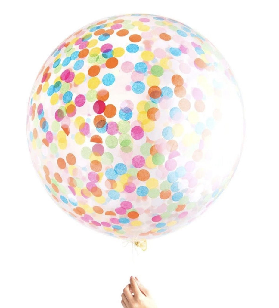 knot and bow confetti balloon