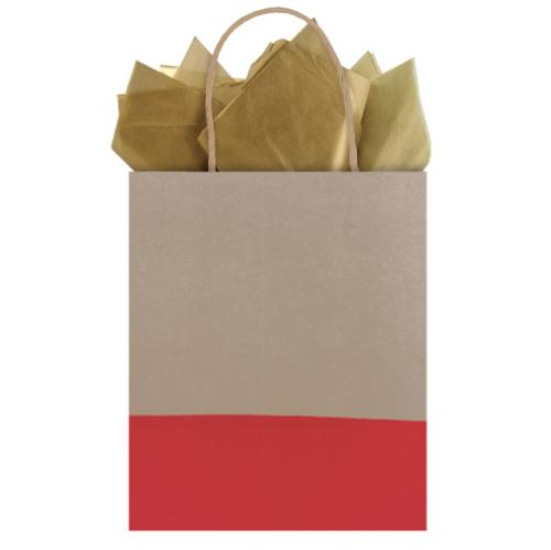 red gift bag