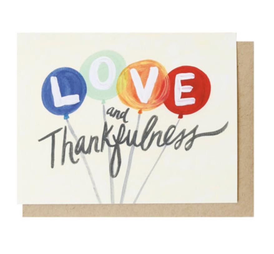 Love and Thankfulness Card