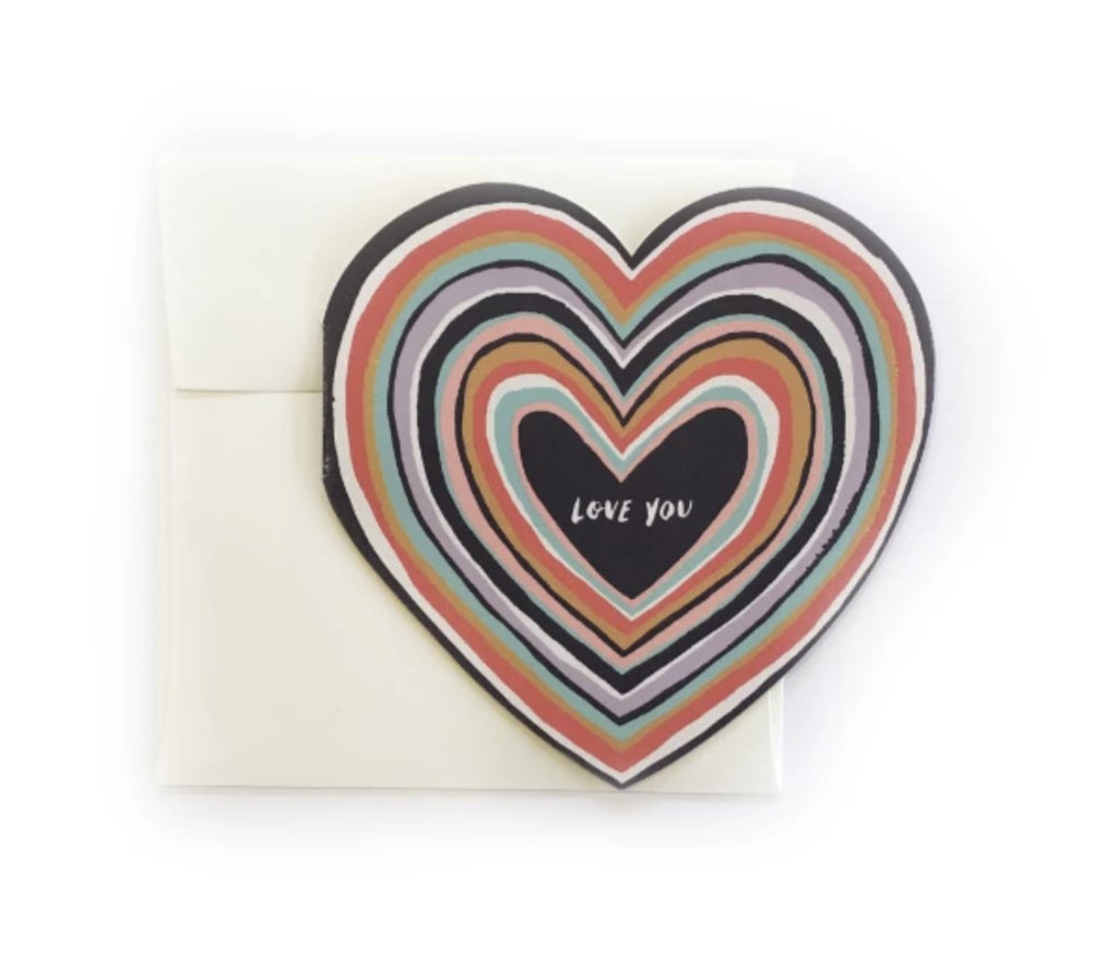 Love You Diecut Heart - Print&Paper