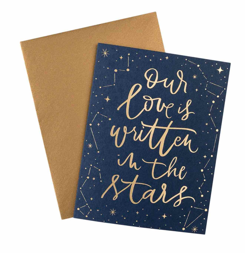 Our Love is Written in Stars Card