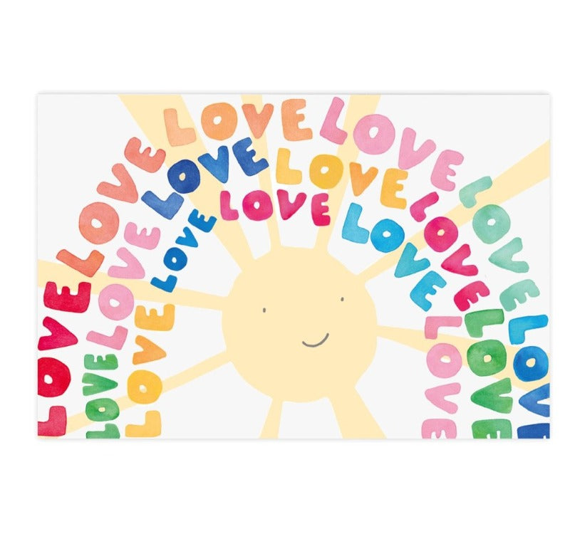 Love Rainbow Postcard