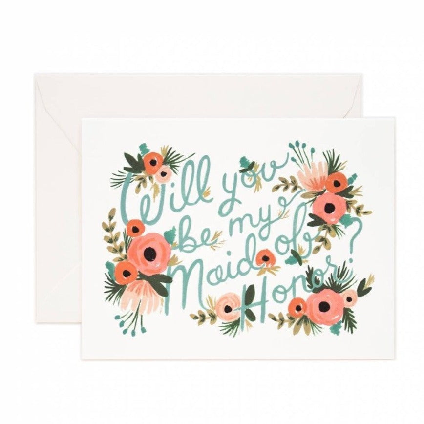 Maid of Honor Card - rifle paper