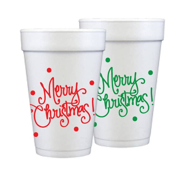 natalie chang christmas foam cups