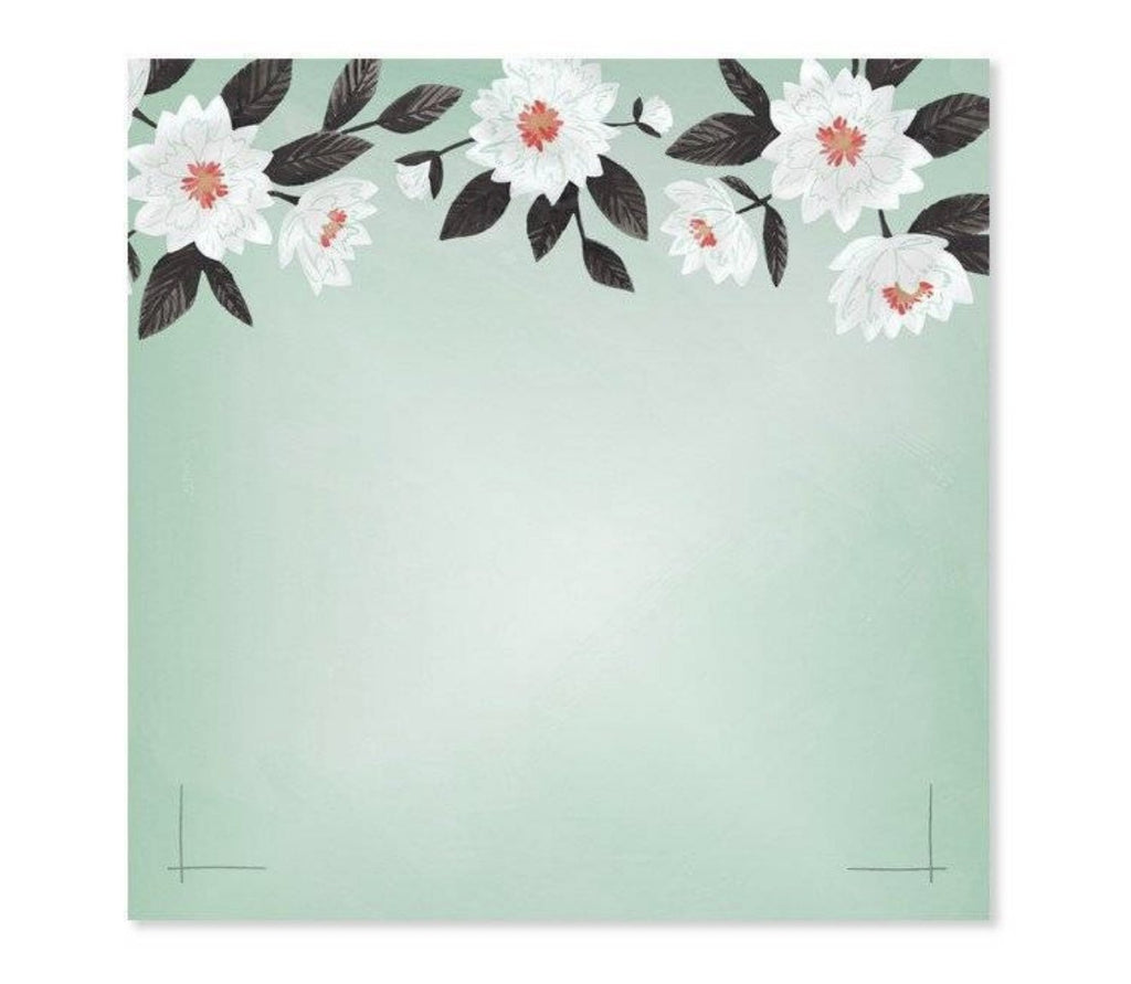 Mint Floral Notepad