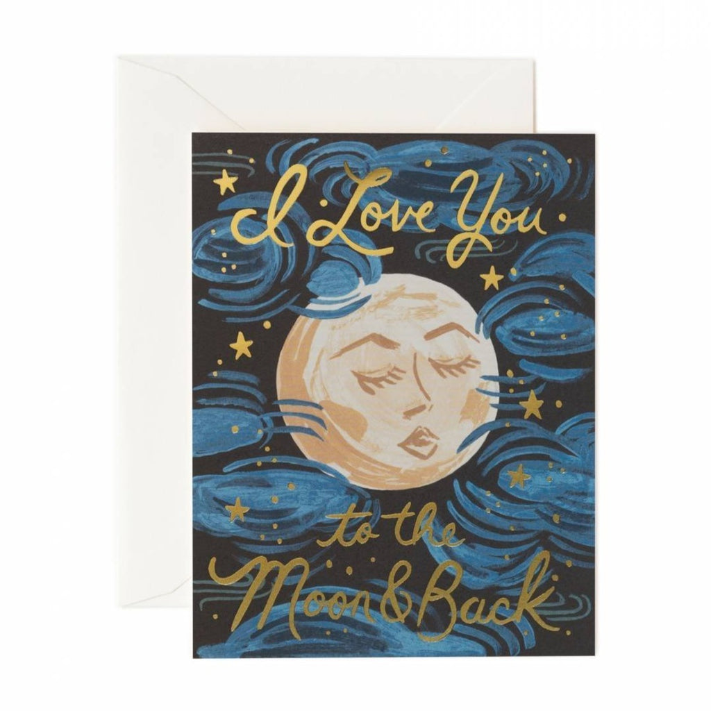 To the Moon and Back Card -rifle paper