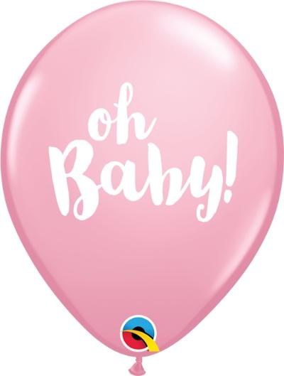 Oh Baby Balloons - Pink