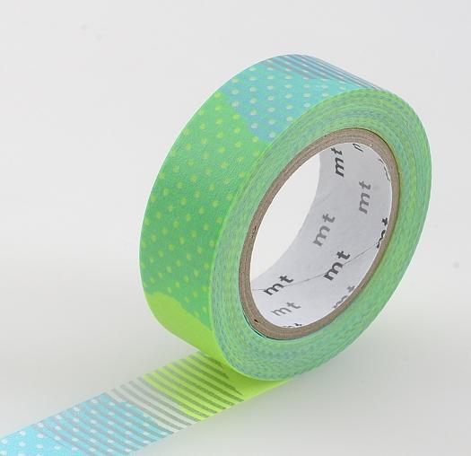 Washi Patch Tshugihagi E -  Turquoise and Lime - Print&Paper