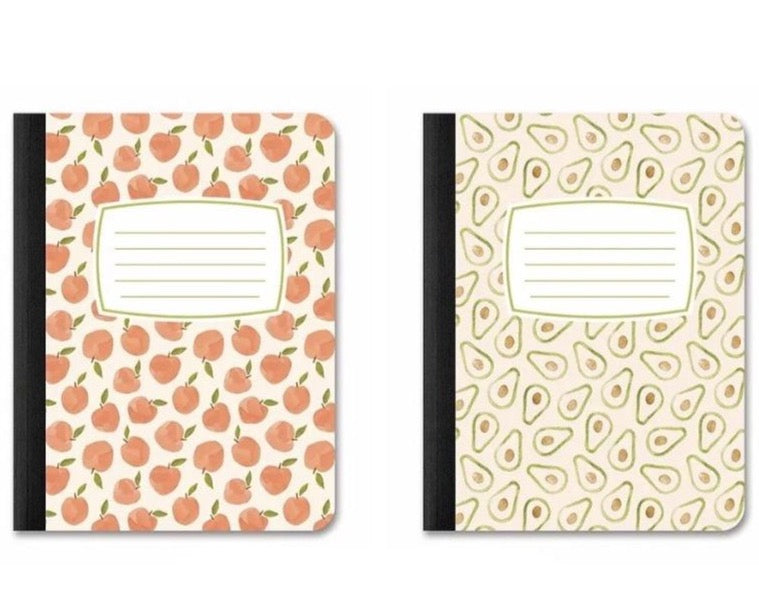 Peaches Avocados Composition Notebooks