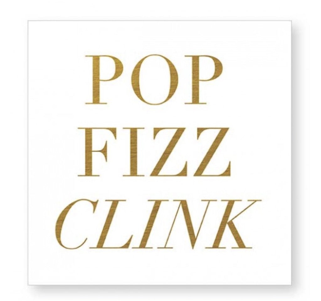 pop fizz clink celebration congrats napkins