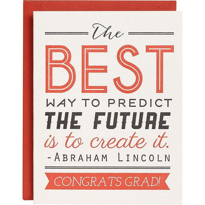 abe lincoln quote card
