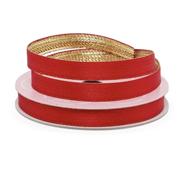 Red/Gold Two-Tone Ribbon