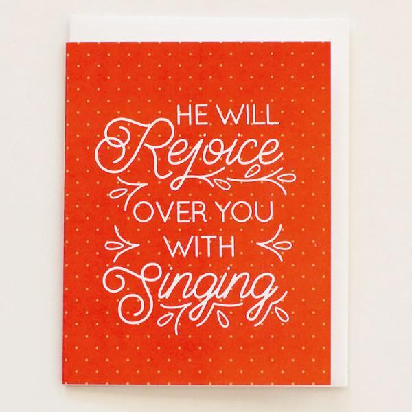 He Will Rejoice Over You - Print&Paper