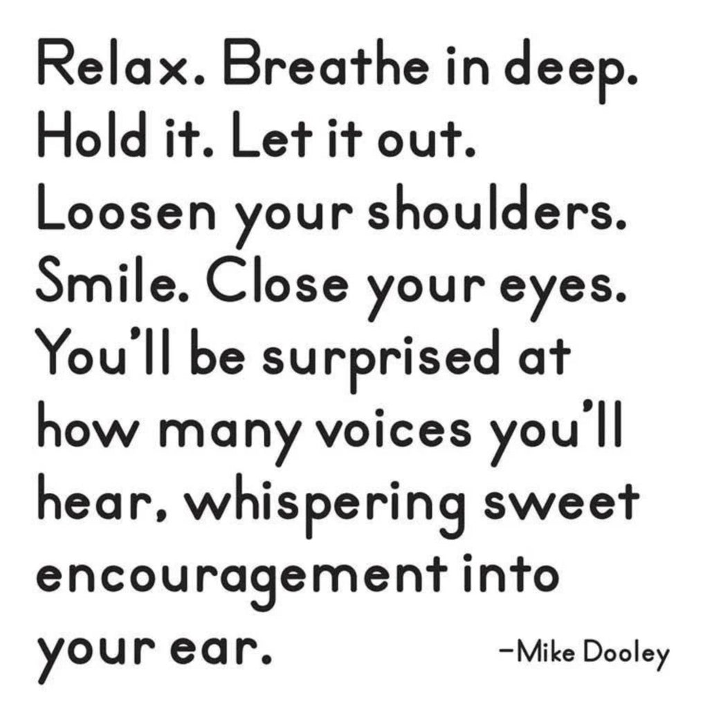 relax and encourage card