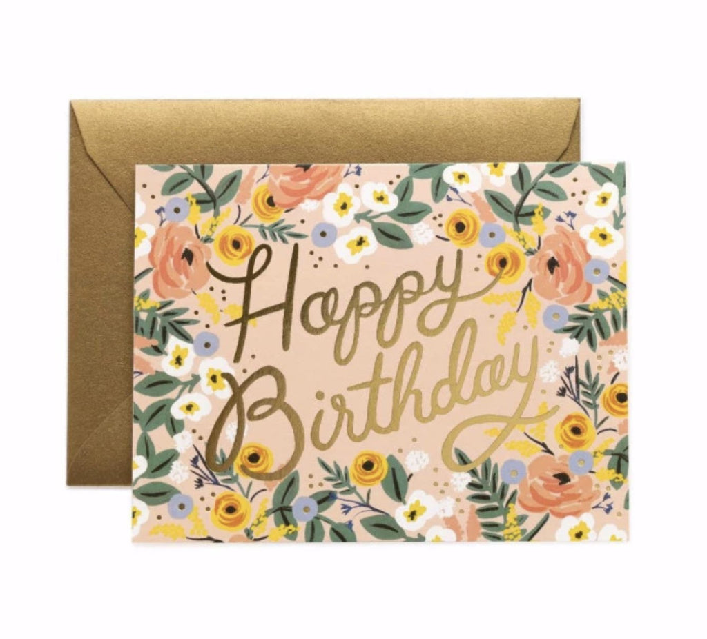 Rose Birthday Card - Print&Paper