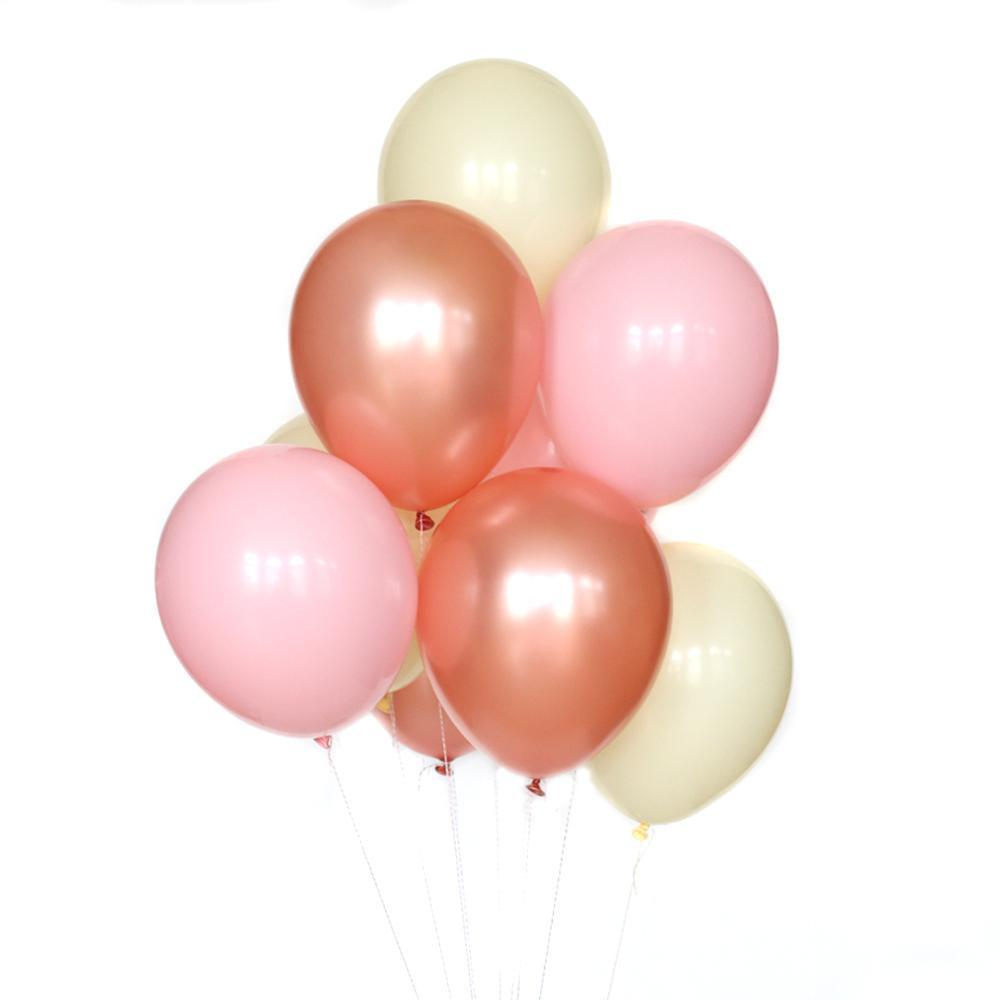 wants and wishes rose gold balloon bundle