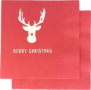Merry Christmas Napkins - Rudolph - Print&Paper