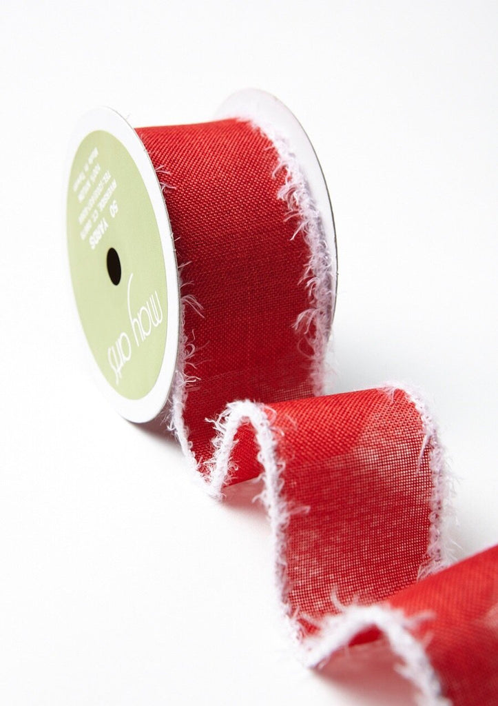 red and white holiday ribbon