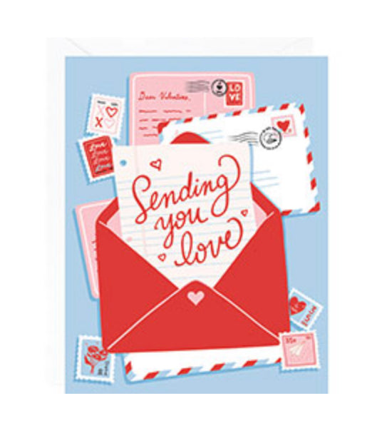 Sending Love Envelope Card