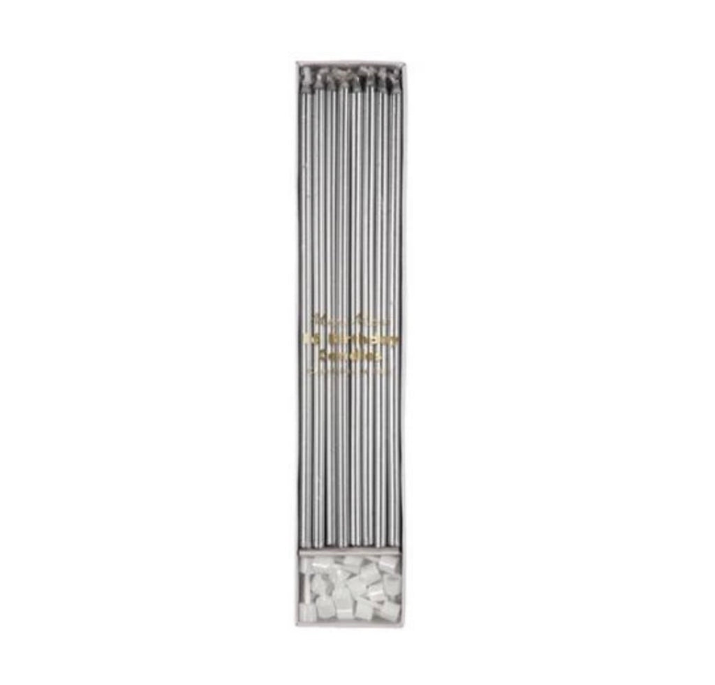 meri meri silver tall candles