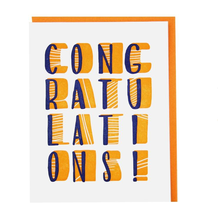Bright Modern Congrats Card
