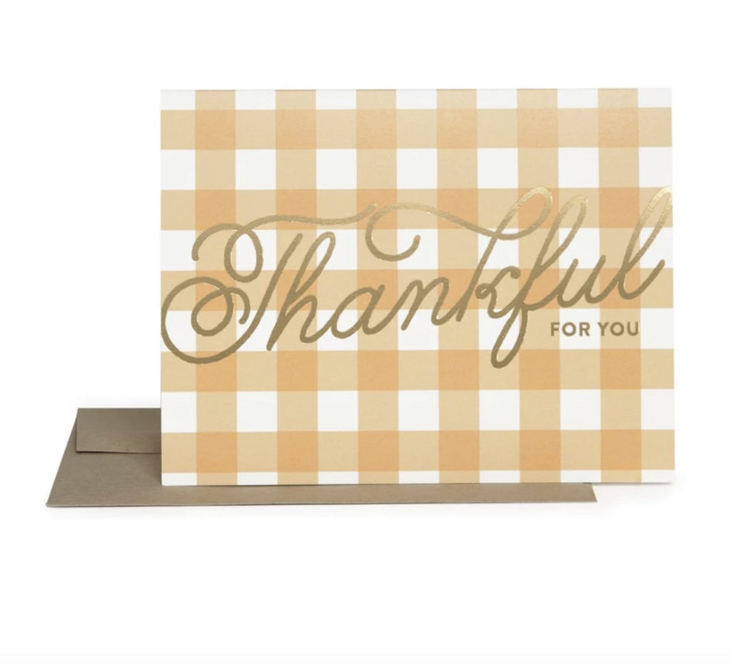 Thankful Gingham Card