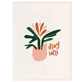 Dahlia Press Stay Well Greeting Card