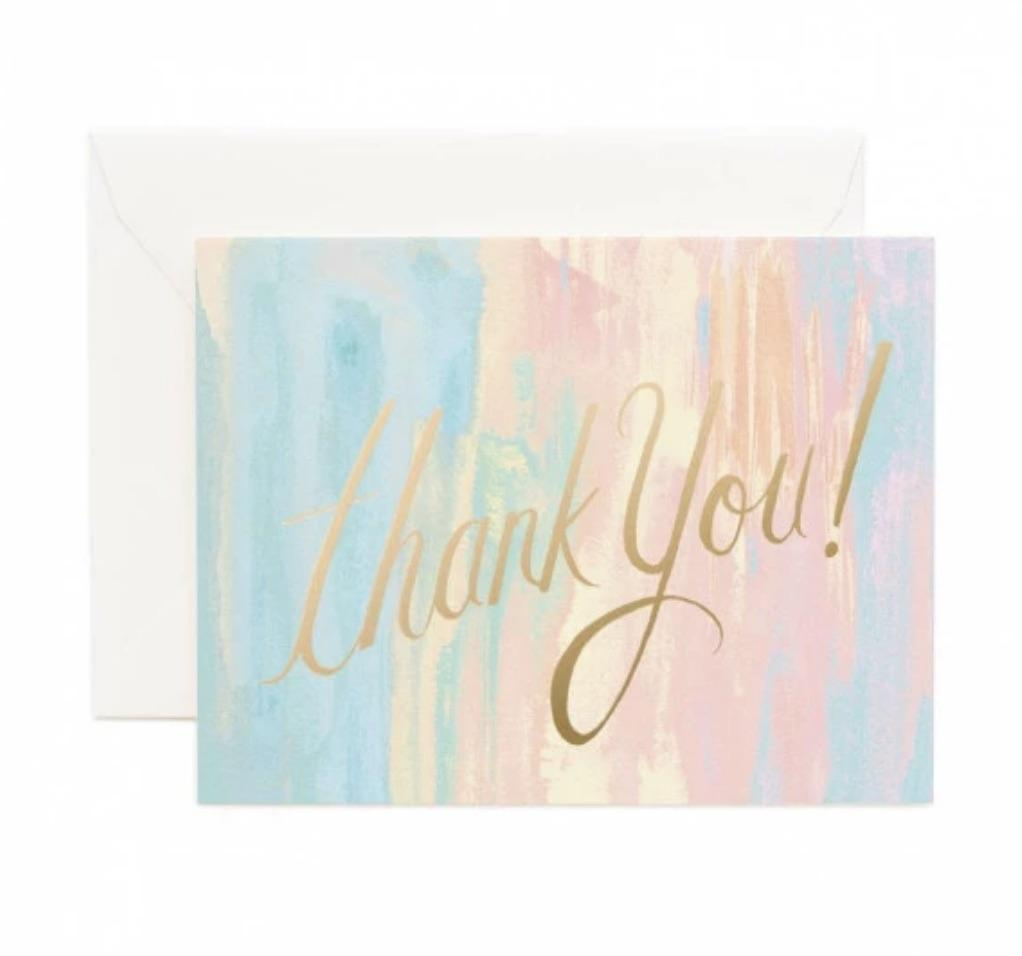 Watercolor Thank You Card - Print&Paper