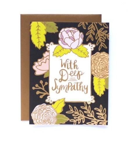 With Deep Sympathy Card - Print&Paper