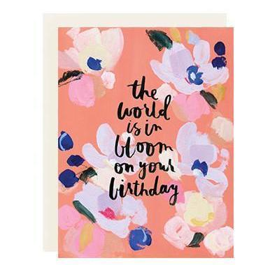 World in Bloom Birthday Card