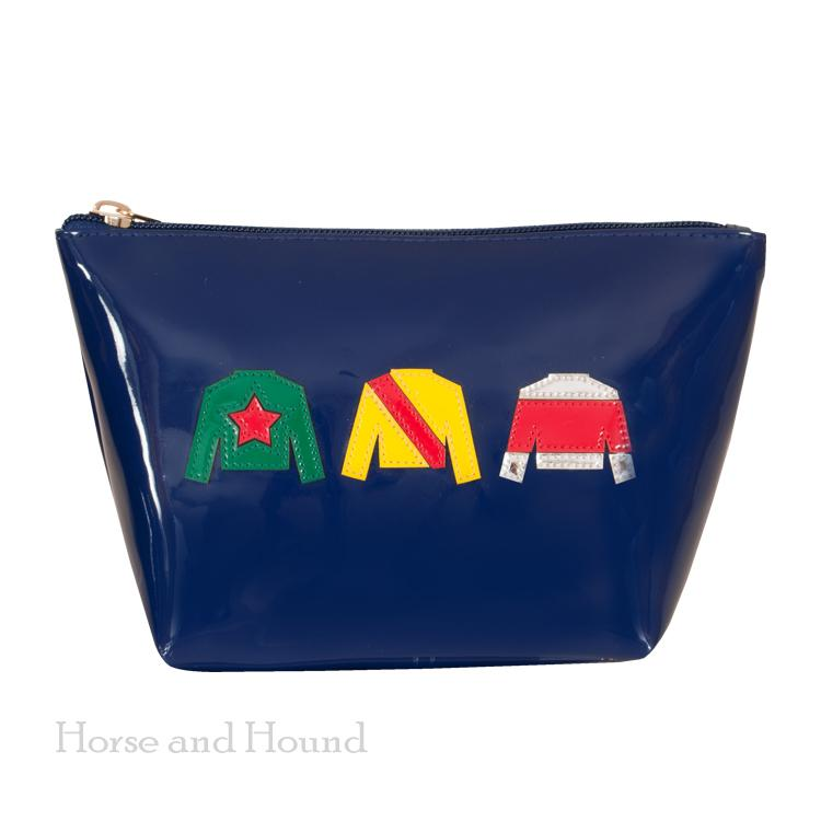 Racing Silks Navy Cosmetic Bag