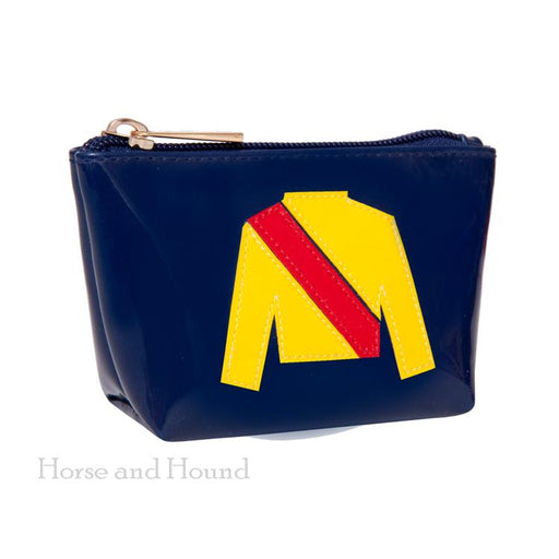 Racing Silks Navy Change Purse
