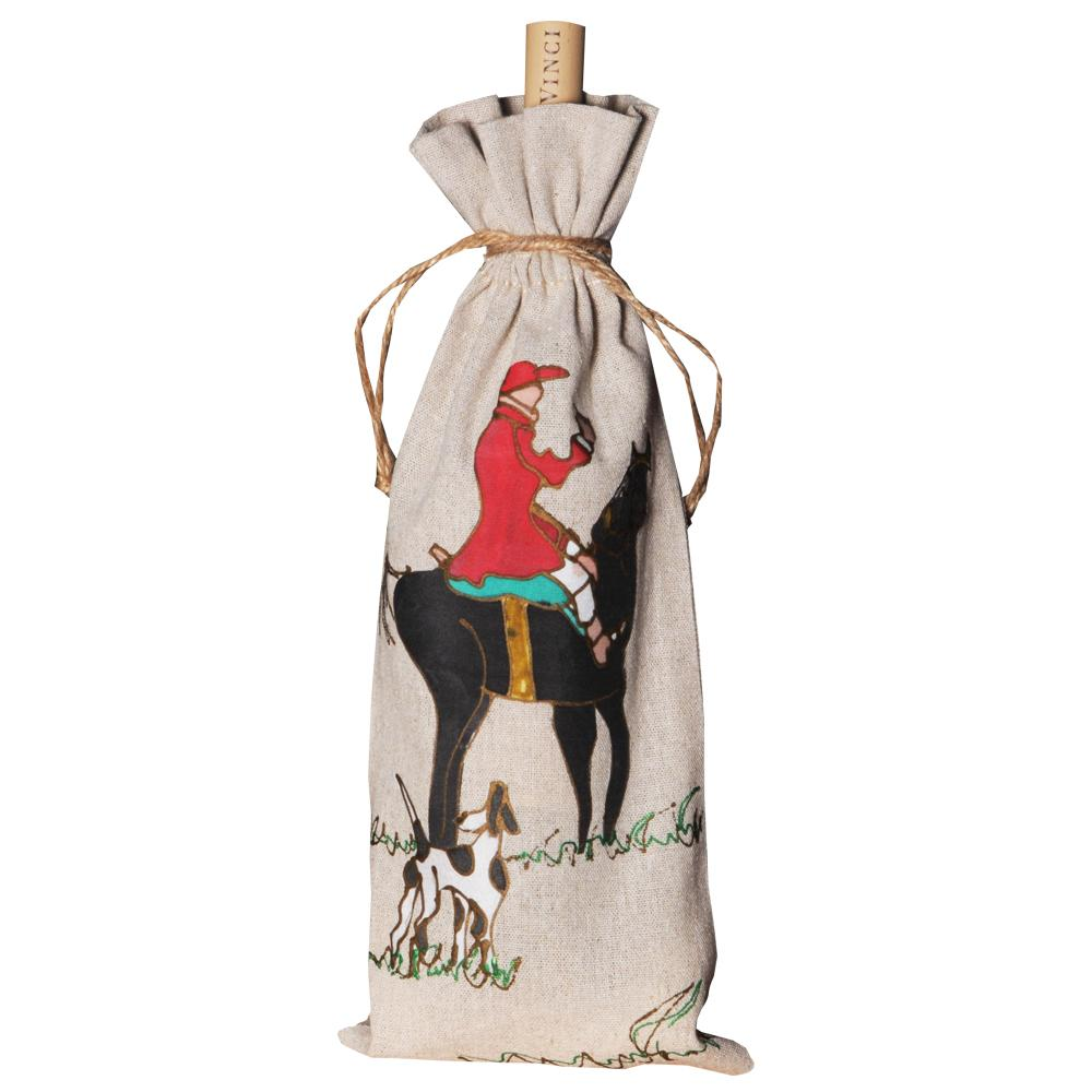 Foxhunter Wine Bag Hand-painted