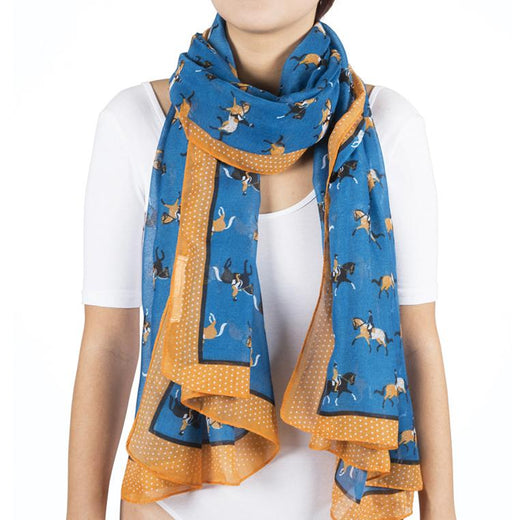 Blue Dressage Fashion Scarf