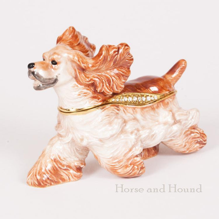Cocker Spaniel Figurine Treasure Box
