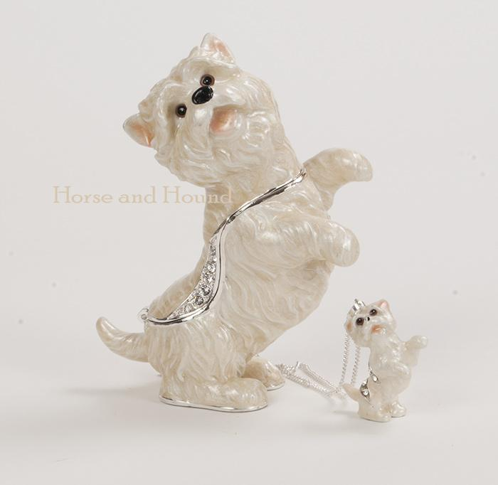 Westie Figurine Treasure Box