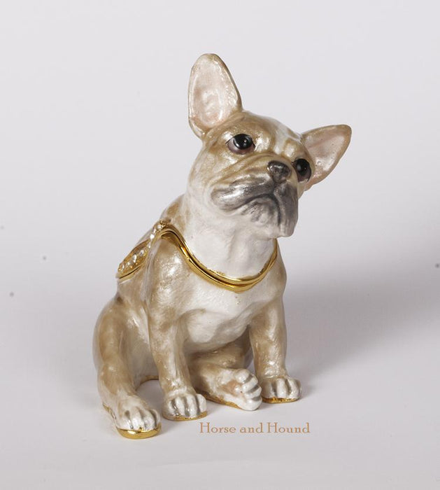 French Bulldog Figurine Box - Sitting