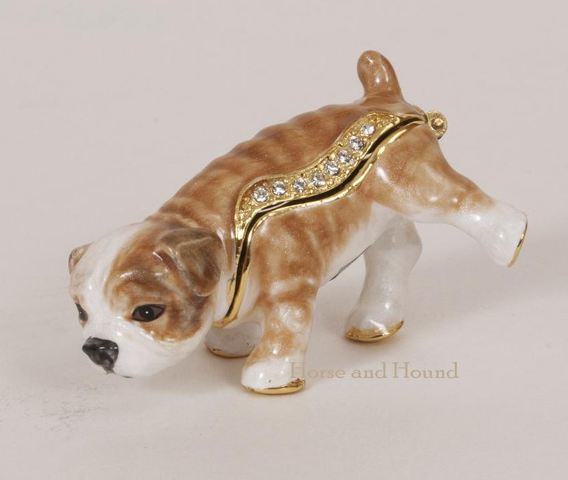 Tinkles Bulldog Puppy Figurine Box