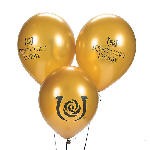 Kentucky Derby Iconic Gold Party Balloons - 10/pkg