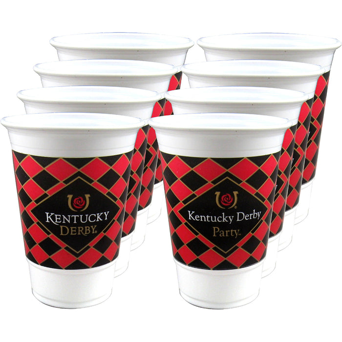 Kentucky Derby Party Beverage Cups 16oz - Pkg/8